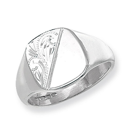 sterling silver solid gents signet ring