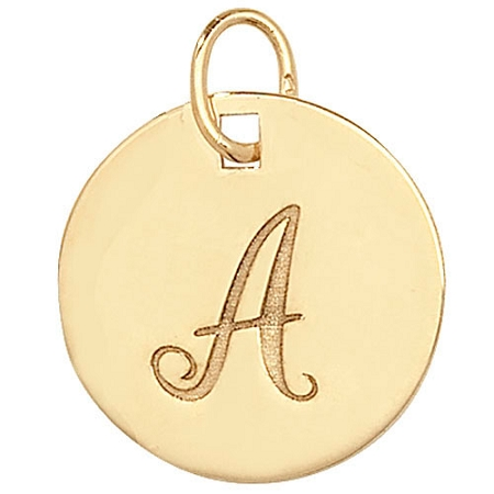 Gold initial pendant charm 9ct gold initial pendant charm mozeypictures Choice Image
