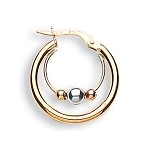 9ct Gold Double Hoop Earrings