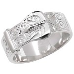 Sterling Silver Gents Buckle Ring