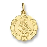 9ct Gold Fancy St Christopher