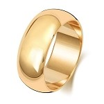 9ct Gold 8MM D-shape Wedding Band