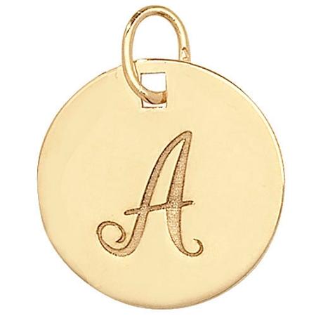 9ct Gold Script Initial F Pendant Charm