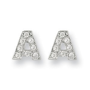 9ct Gold Cubic Zirconia Initial Studs