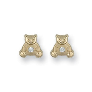 9ct Gold Teddy Bear Studs