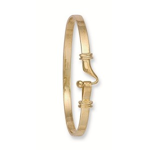9ct Gold Hook Style Ladies Bangle