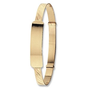 9ct Gold Expandable Baby ID Bangle