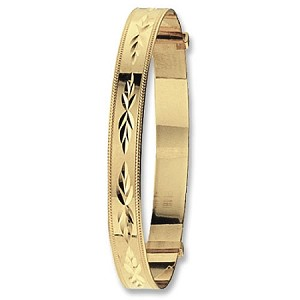 9ct Gold Wide Expandable Baby Bangle