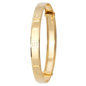 9ct Gold Expandable Baby ABC Bangle