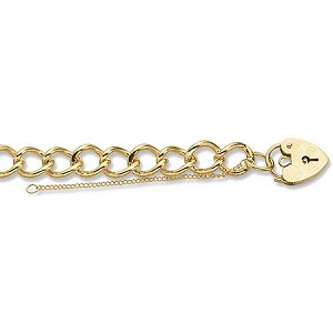 9ct Gold Solid Charm Bracelet