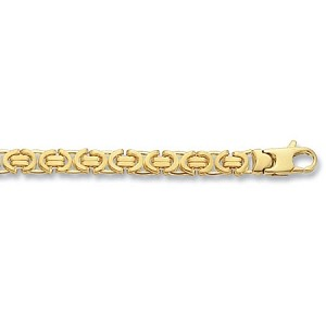 "9ct Gold Solid 18"" Byzantine chain"