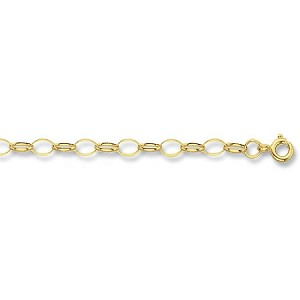 "9ct Gold 20"" Oval Belcher Chain"