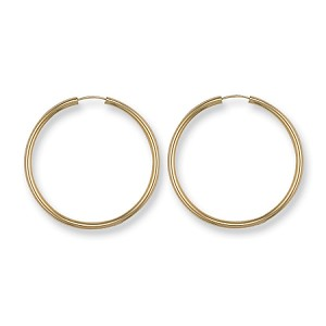 9ct Gold Sleeper/Hoop Earrings