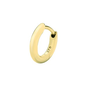 9ct Gold Round Tube Cartilage Earring