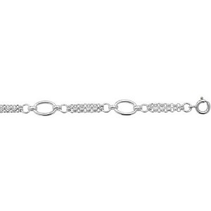 Sterling Silver Fancy Ladies Bracelet
