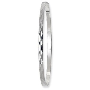 Sterling Silver Pair Of Diamond Cut Bangles