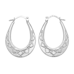 Sterling Silver Creole Earrings