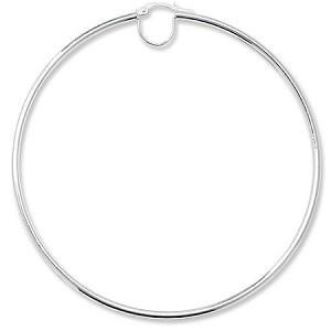 Sterling Silver Extra Large Plain Hoop earrings