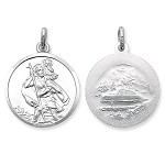 Sterling Silver Double Sided Large St Christopher