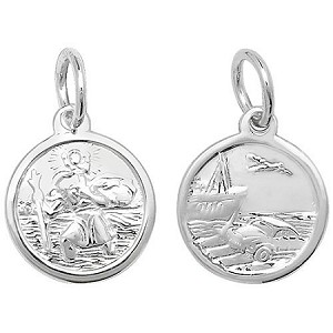 Sterling Silver Small Double Sided St Christopher