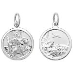 Sterling Silver Double Sided St Christopher