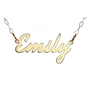 9ct Gold Name necklace 'Carrie' style