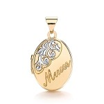 9ct  2 Colour Gold 'Mum' Locket