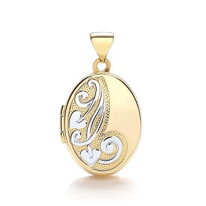 9ct 2 Colour Gold Locket