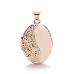 9ct Rose Gold Pattern Oval Locket