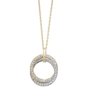 9ct  Gold Cubic Zirconia Rings On Chain