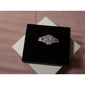 18ct and Platinum Ladies Diamond Ring