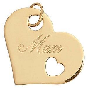 9ct Gold Heart 'Mum' Pendant
