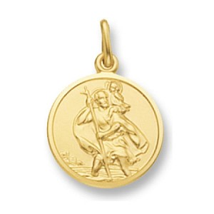 9ct Gold Solid St Christopher