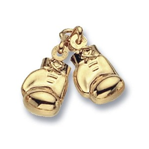 9ct Gold Double Boxing Gloves Pendant /  Charm