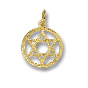 9ct Gold Star Of David Charm / Pendant