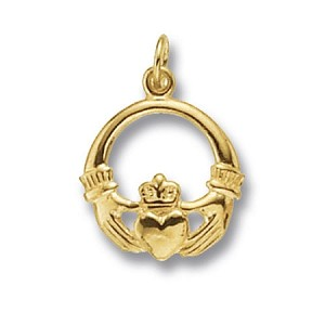 9ct Gold Claddagh Charm / Pendant