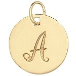 9ct Gold Initial Pendant / Charm