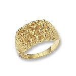 9ct Gold Gents  Heavy Keeper Ring