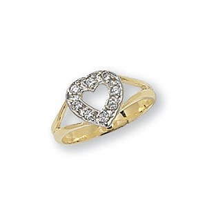9ct Gold Childs Heart Ring