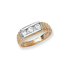 9ct Gold Child's Cubic Zirconia Ring