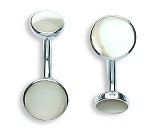 Sterling Silver Genuine Mother Of Pearl Cufflinks