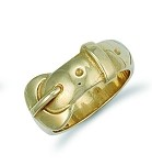 9ct Gold Solid Gents Buckle Ring