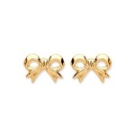 9ct Gold Bow Stud Earrings