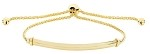 9ct Gold Ladies Bracelet With Bar