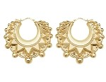 9ct Gold Large Victorian Creole Earrings