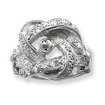 Sterling Silver Cubic Zirconia Knot Ring