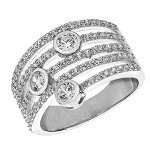 Sterling Silver Ladies Cubic Zirconia's Ring