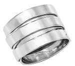 Sterling Silver Wide Wrap Ladies Ring