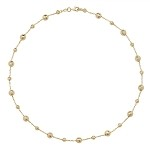9ct Gold Diamond Cut Beads Necklet