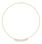 9ct Gold Triple Infinity Necklet
